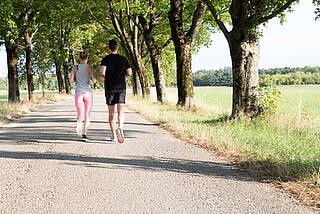 Laufen, Joggen, Sommer, Allee