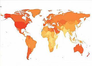 Eine von sieben Frauen und einer von neun Männern sind zu dick. Das zeigt die weltweit größte Studie zu Übergewicht (Obesity)
