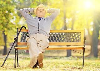 Weniger Stress im Alter