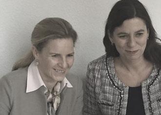 Astrid Lurati (li) und Sandra Scheeres: Die führende Rolle der Charité weiter ausbauen