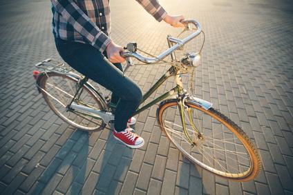 Radfahrer, Radeln, Muskeln, Skelett, Gelenke