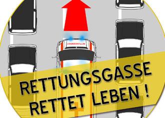 Rettungsgasse schon bei stockendem Verkehr bilden. Das schreibt die Straßenverkehrsordnung seit 1. Januar 2017 vor
